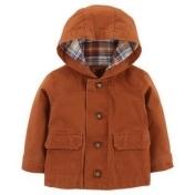 carter's® Newborn Button-Front Canvas Jacket in Brown