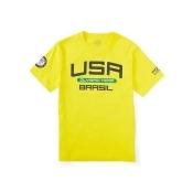 Ralph Lauren Boys 8-20 Team Usa Graphic Tee Vivid Yellow Xl