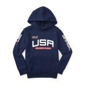 Ralph Lauren Boys 8-20 Team Usa Fleece Hoodie French Navy S