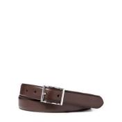 Ralph Lauren Vachetta Leather Dress Belt Dark Brown 32