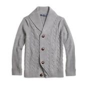 Merino Wool Shawl Cable Cardigan