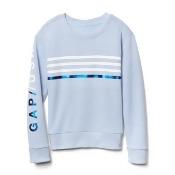 Gap Girls Embellished Logo Crew Sweatshirt Size S - Blue heather