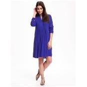 Old Navy Pintuck Swing Dress For Women Size XS Petite - Ultraviolet