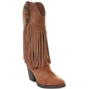 Madden Girl Ranglee Western Fringe Boots Women's Shoes