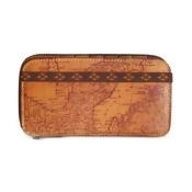 Patricia Nash Signature Map Oria Zipper Bifold Wallet