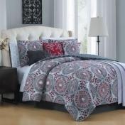 Avondale Manor Emeline 12-Piece Queen Comforter Set in Berry