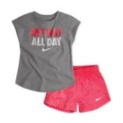 Nike Toddler Girls 2-Pc. Graphic-Print T-Shirt & Printed Shorts Set