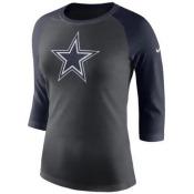 Nike Women's Dallas Cowboys Tri Logo Raglan T-Shirt