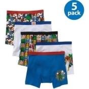 Marvel Superheroes Boys Underwear, Pack 5
