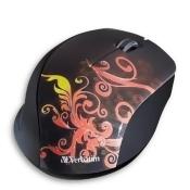 Verbatim Wireless Notebook Optical Mouse, Design Series - Orange