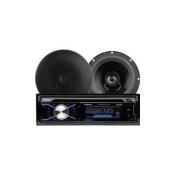 Boss Audio 656BCK 508UAB CD/MP3 AM/FM Receiver & 2x 6.5
