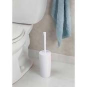 InterDesign Una Toilet Bowl Brush and Holder for Bathroom Storage, White
