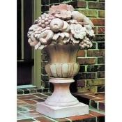 Urn with Fruit Garden Statue