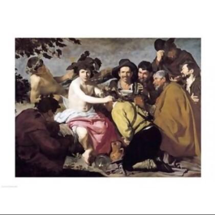 Triumph of Bacchus, 1628 Poster Print by Diego Velazquez (24 x 18)