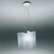 Artemide 0453028APL26 Logico Fluorescent Single Suspension Light in Grey/White