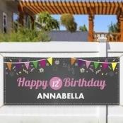 Personalized Chalkboard Birthday Banner