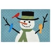 Liora Manne Frontporch Snowman and Friends 1-Foot 8-Inch x 2-Foot 6-Inch Indoor/Outdoor Mat