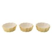 Marigold Artisans Fluted Bowls in Gold (Set of 3)