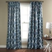Triangle Home Fashions Geo Blackout Rod Pocket Curtain Pair