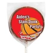 Basketball Milk Chocolate Lollipops