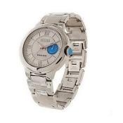 Ecclissi Sterling Gemstone Crown Round Dial Bracelet Watch