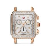 Michele Deco Diamond Two-Tone Diamond Dial Watch Head, 33 x 35mm