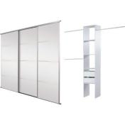 4 Panel Mirror Sliding Wardrobe Door Basix Kit - 91.4cm