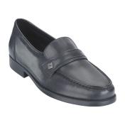 Thom McAn Men's Karl Black Leather Dress Loafer - Wide Width, 9