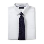 Men's Traditional Fit No Iron Buttondown Royal Oxford Shirt-White,15H35