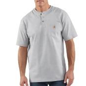Carhartt Workwear Pocket Henley Shirt - Short-Sleeve - Men's Heather Gray, M