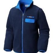 Columbia Mountain Side Heavyweight Full-Zip Fleece Jacket - Boys' Collegiate Navy/Super Blue, M