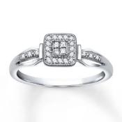 Jared Diamond Promise Ring 1/8 carat tw 10K White Gold- Promise