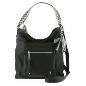 Jessica Simpson Tatiana Hobo Bag Black-Grey-Snake
