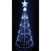 4' Polar White LED Light Show Cone Christmas Tree Lighted Yard Art Decoration