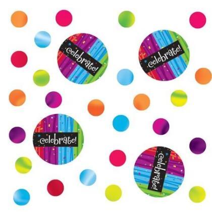 """Club Pack of 12 Multi-Colored Milestone """"Celebrate!"""" Celebration Confetti Bags 0.5 oz."""