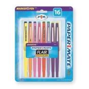 Porous Point Felt Tip Pen Set, Medium Medium, Assorted PK16 PAPER MATE 70644