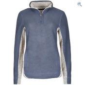 Weird Fish Emmie ¼ zip Mac Active Macaroni Sweatshirt - Size: 8 - Colour: BLUE DENIM