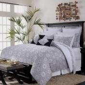 Maldives Cotton 12-piece Bed in a Bag Set, Black