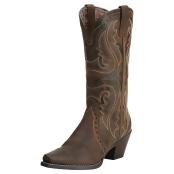 Ariat Western Boots Womens Heritage West Wingtip Brown 10014272