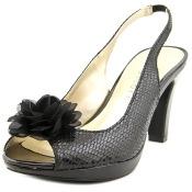 Karen Scott Bethe Open-Toe Synthetic Slingback Heel