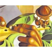 Serenading the Street Poster Print by Cbabi Bayoc (14 x 11)
