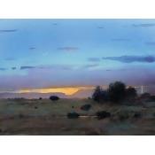 High Mesa Rainstorm Poster Print by Tom Perkinson (9 x 12)
