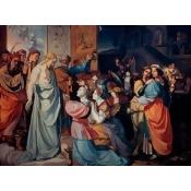 Five Wise and Five Foolish Virgins , Peter von Cornelius (1783-1867/ German), Yale University, New Haven, Connecticut Poster Print (24 x 36)