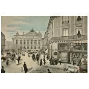Les Types de Paris 1889 La Place de lOpera Poster Print by Jean-Fran ois Raffa lli