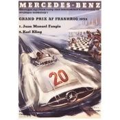 Mercedes Benz Poster Print by H Liskars (20 x 28)