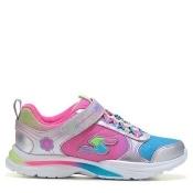Skechers Kids' Gamer Girls Lite Kicks Sneaker Preschool Shoes (Silver Multi) - 2.0 M