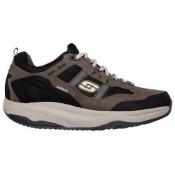 Skechers Men's Shape Ups XT Premium Comfort Memory Foam Walking Shoes (Brown/Black) - 6.5 M