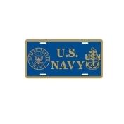 US Navy License Plate 11-3/4 in x 6 in Metal