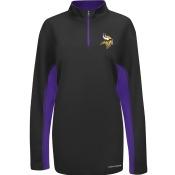 Minnesota Vikings Majestic NFL Defending Zone 1/4 Zip Performance Shirt