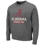 Alabama Crimson Tide NCAA Pioneer Fleece Crew Sweatshirt - Charcoal